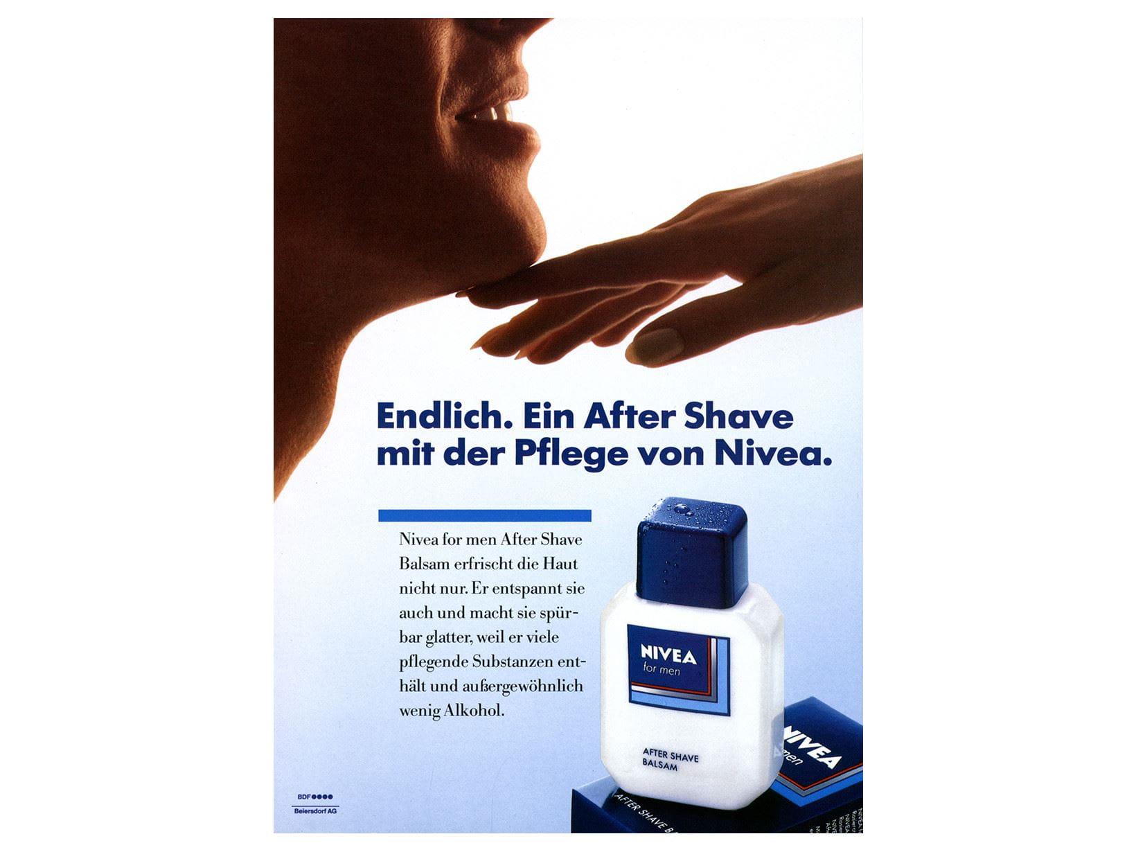 NIVEA FOR MEN Werbeanzeige After Shave 1986